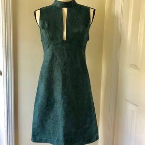 BCBGeneration Teal A-line ultrasuede dress, M